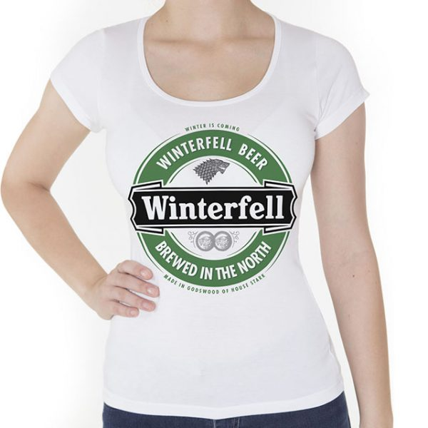 Camiseta Winterfell Beer Game of Thrones