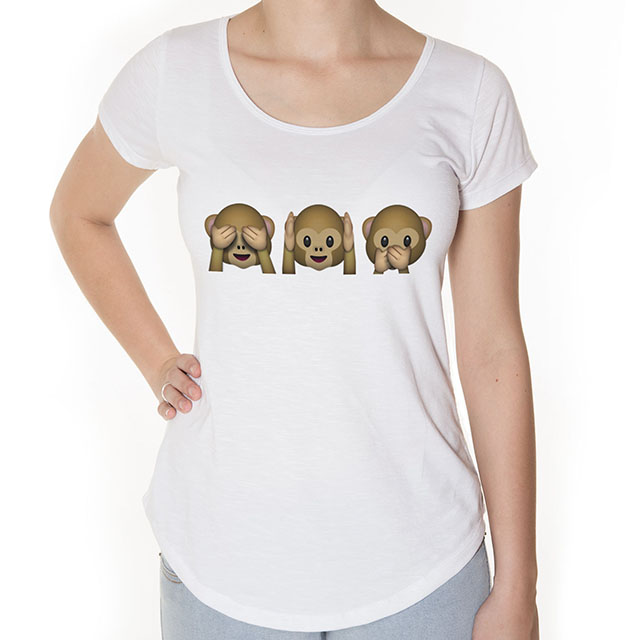 Camiseta Emoticon Whatsapp Macaquinhos