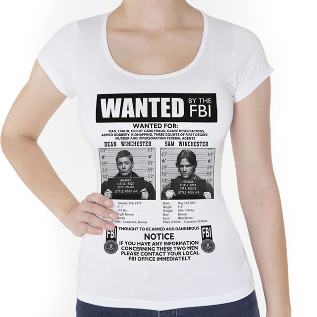 Camiseta Supernatural Feminina