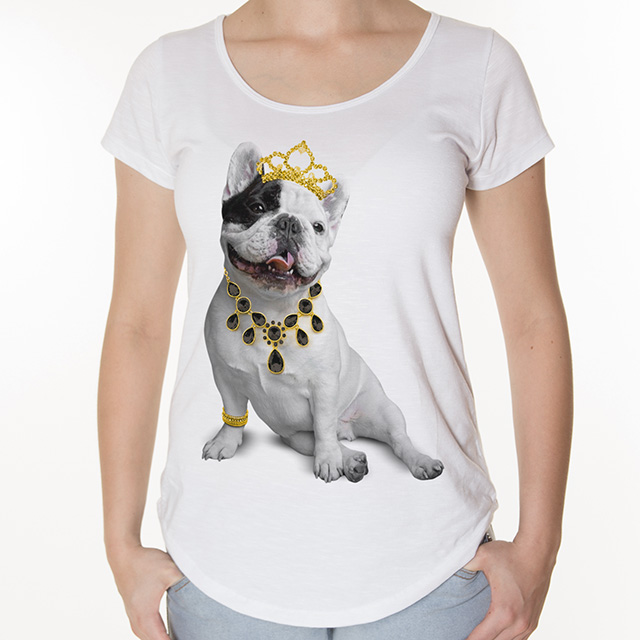 Camiseta Bulldog Frances Princesa