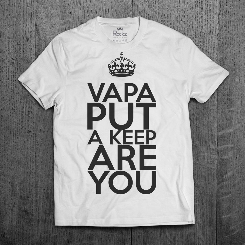 Camiseta Masculina Vapa Put a Keep are You